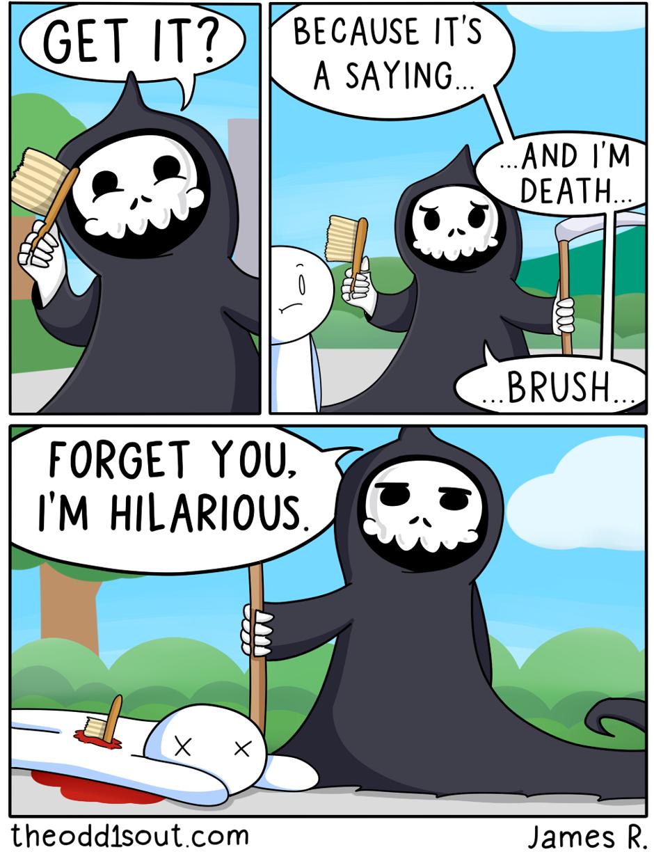 "theodd1sout: "" That was a killer joke. Patreon Image ..."
