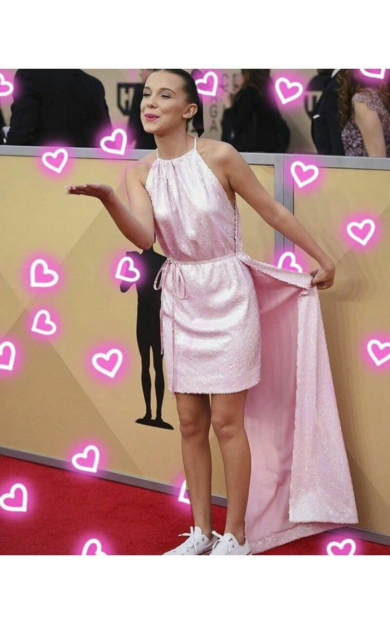 Pink dress from stranger things  Pin by Ellie Radford on Stranger Things  Pinterest  Millie bobby