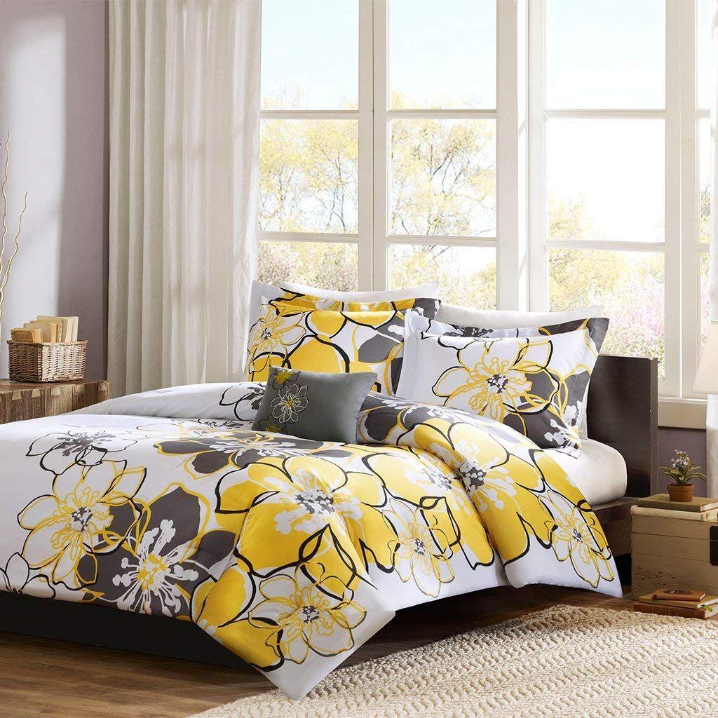Mi Zone Allison Comforter Set Yellow Full Queen Floral