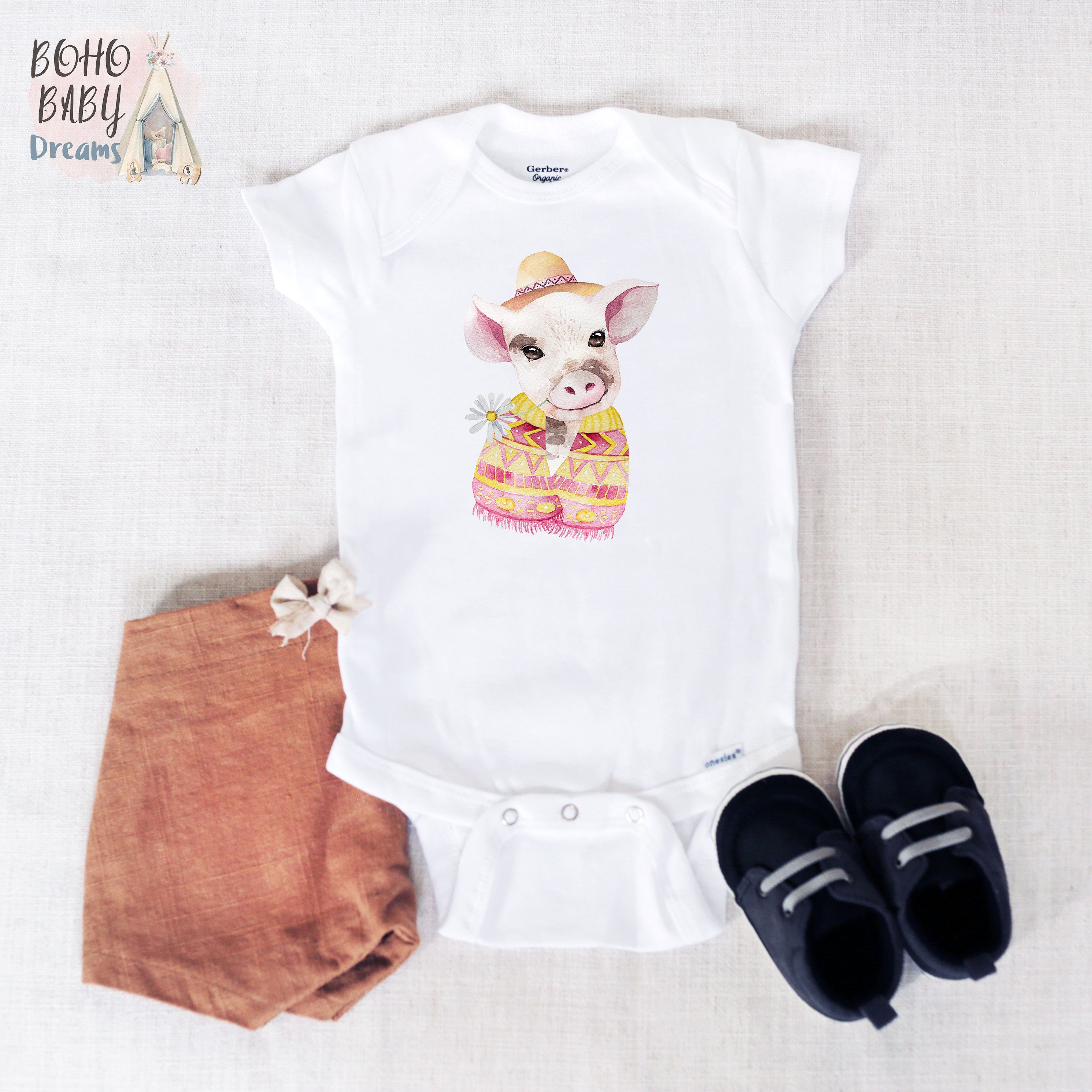b9c2e8cf0 Hat Pig Baby Onesie®, Pig Baby Clothes, Funny Pig Baby Outfit, Cute ...