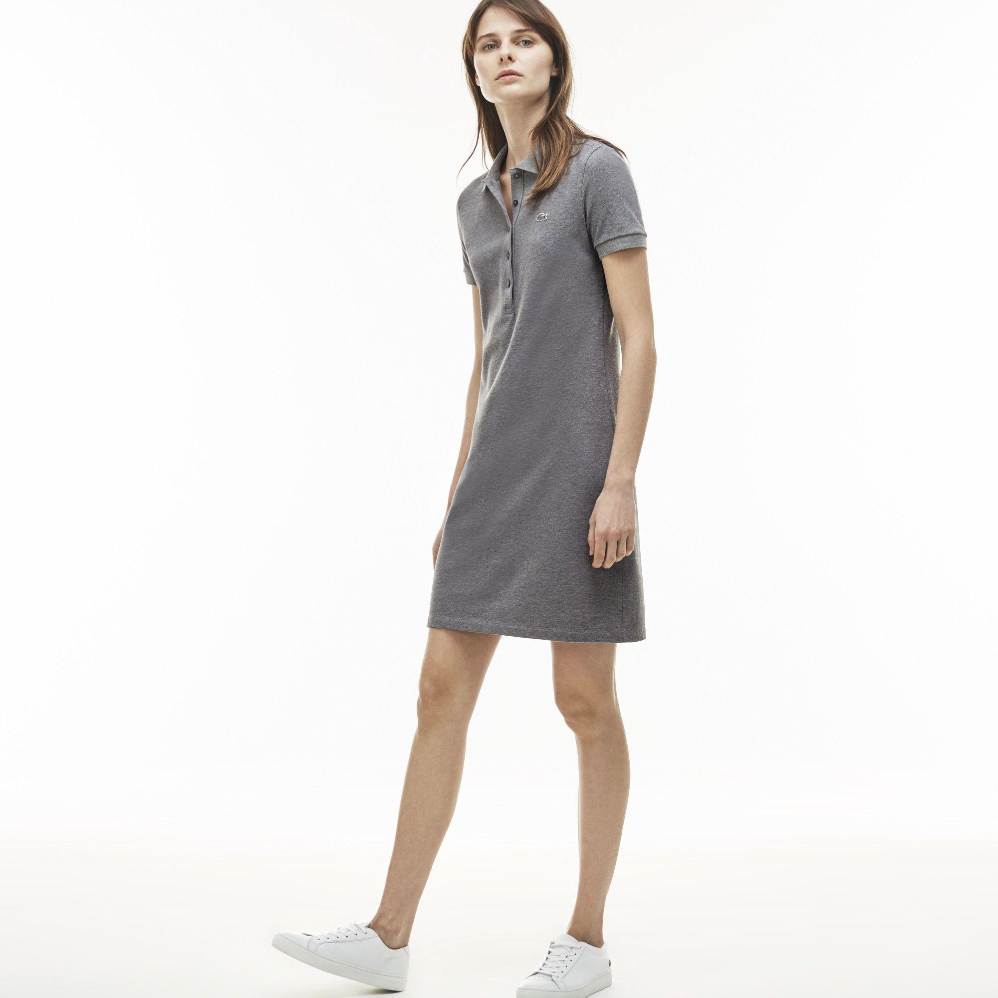 c4bb15c2ef LACOSTE Women's Stretch Cotton Mini Piqué Polo Dress - galaxite ...