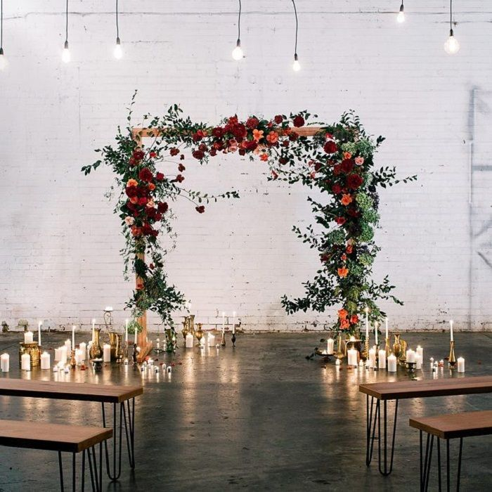 Rustic and charming wedding ceremony decor ideas