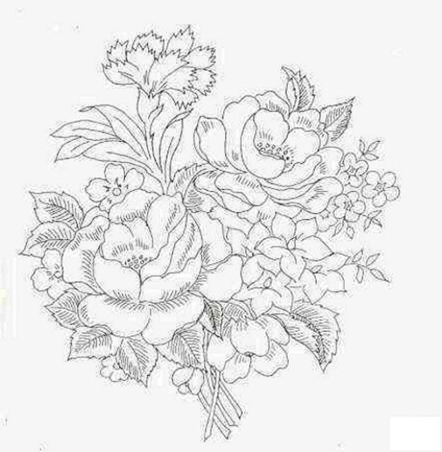 Dibujos y plantillas para imprimir dibujos de flores - Plantillas para pintar cuadros ...