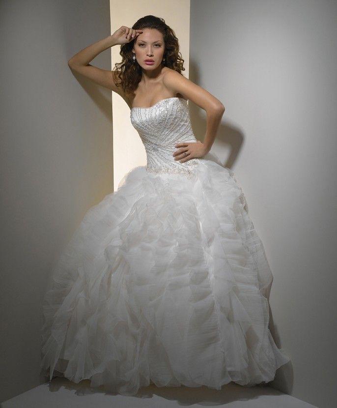 Sweetheart sans bretelles robe de mariée en tulle