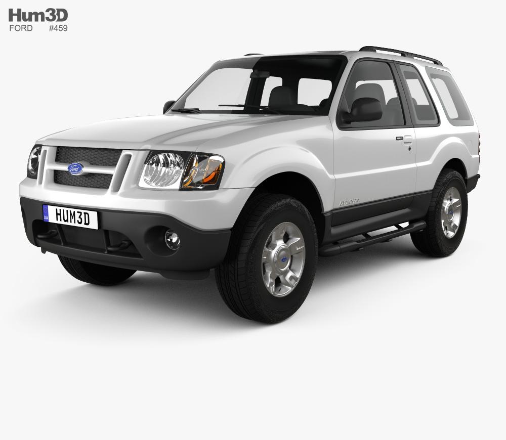 3D model of Ford Explorer Sport XLT 2001 Ford explorer