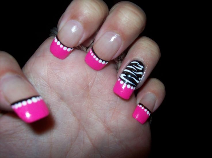 Pink black and white nail designs graham reid pink black white nail design image collections nail art and nail pink black and white nailg prinsesfo Image collections