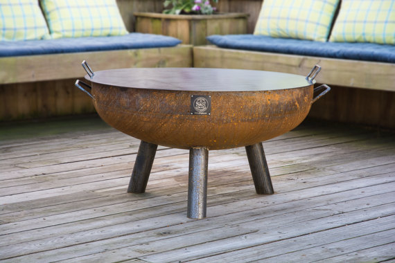 36 Handcrafted Snuffer Lid Fire Pit Fire Pits For Sale Steel Fire Pit