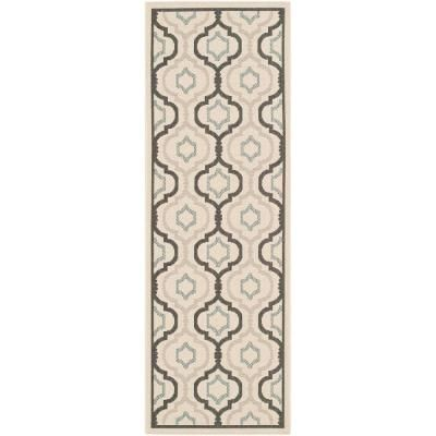 Safavieh Courtyard Beige Black 2 3 Ft X 12 Ft Runner Cy7938 256a21 212 The Home Depot Indoor Outdoor Area Rugs Outdoor Runner Rug Area Rugs