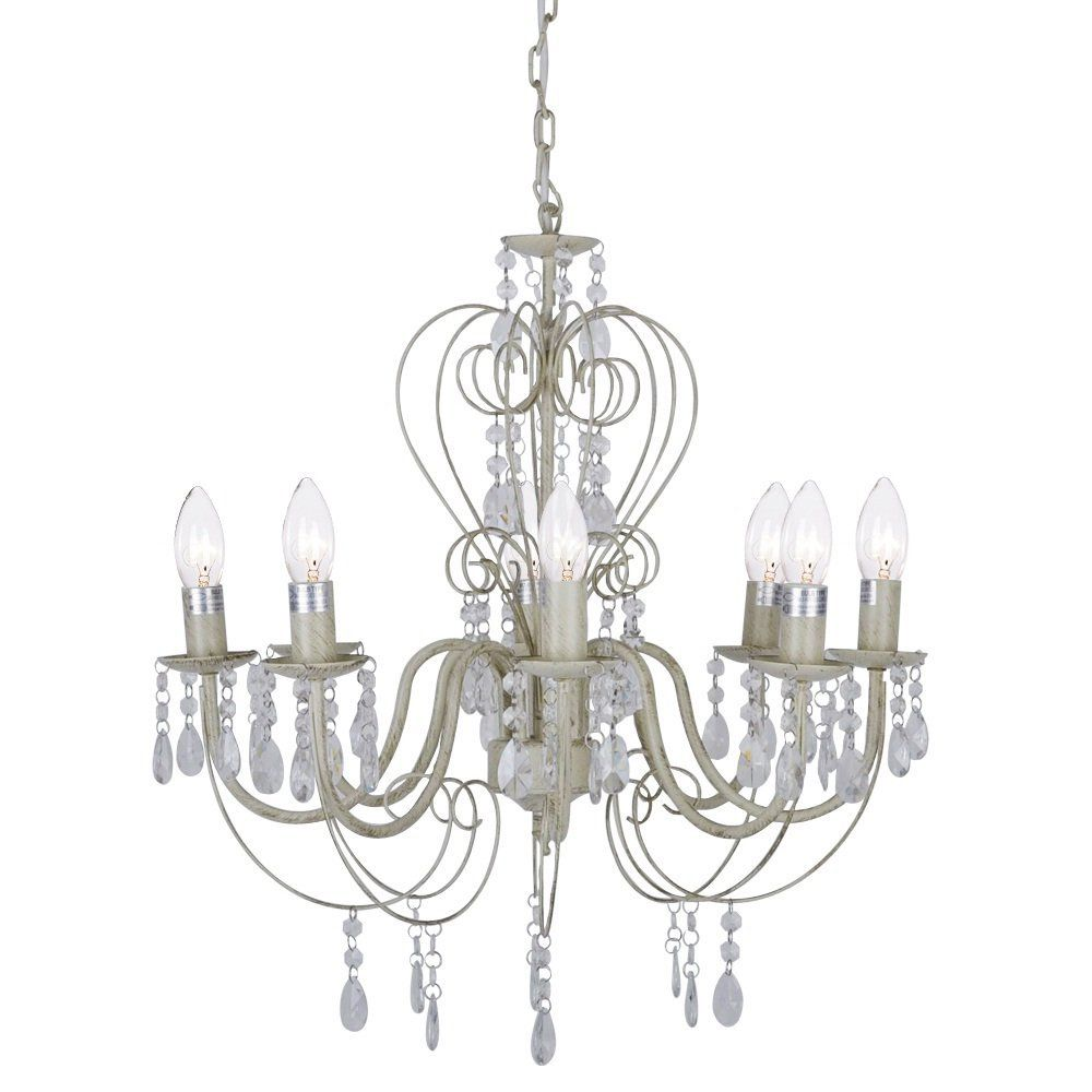 Vintage French Style Shabby Chic 8 Way Chandelier Ceiling