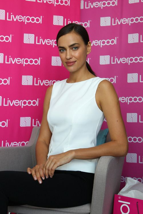 celebritiesofcolor:Irina Shayk at the store Liverpool in Mexico City ...