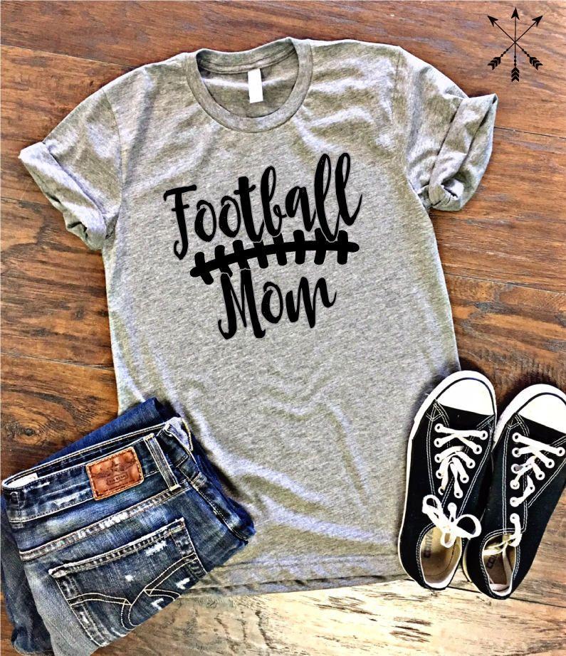 Football mom tee football mom shirt proud football mom