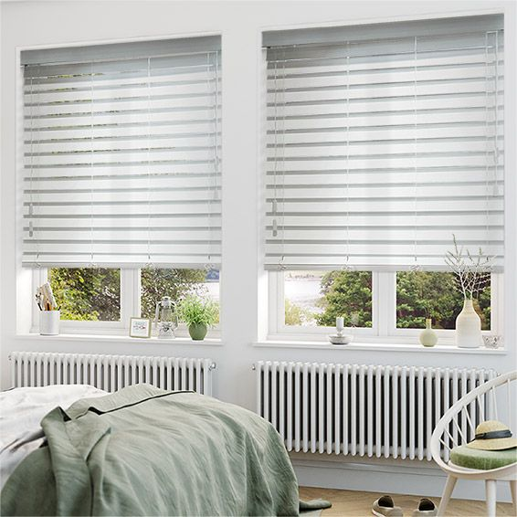 cf62d29c895 Pure White Wooden Blind - 64mm Slat from Blinds 2go