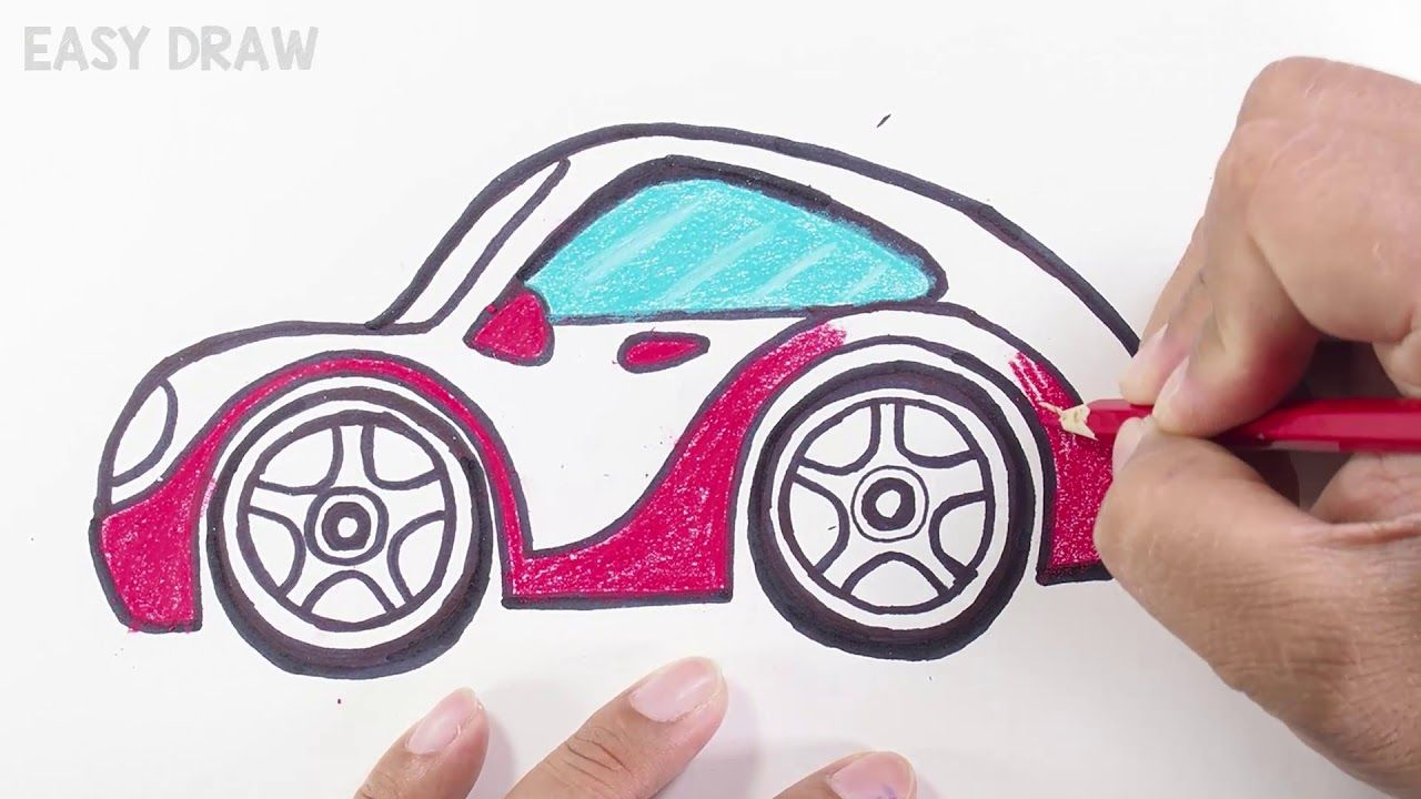 How To Draw A Car Easy Step By Step For Beginners Drawing For Kids Drawing For Beginners Colored Pencils