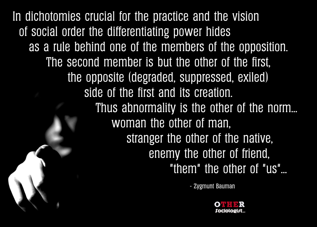 Zygmunt Bauman On Otherness Sociological Imagination Flirting Quotes For Her Intercultural Communication