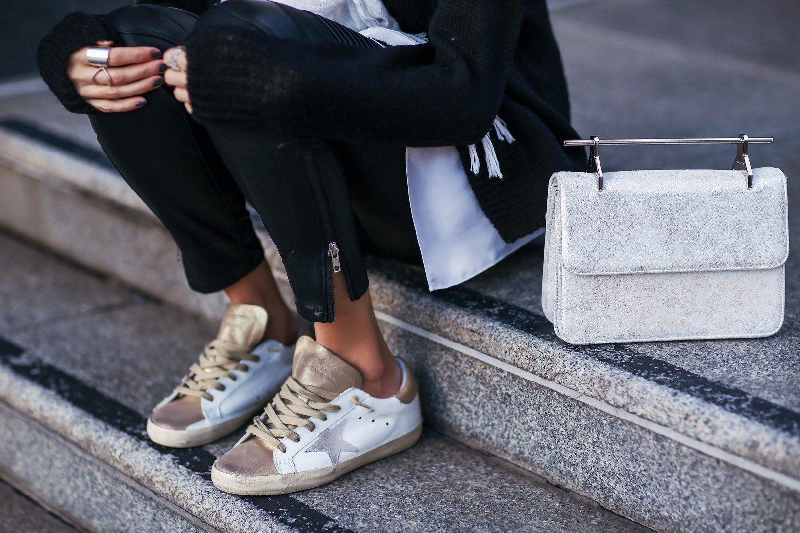 best sneakers 16876 97938 Golden Goose sneakers and M2Malletier bag