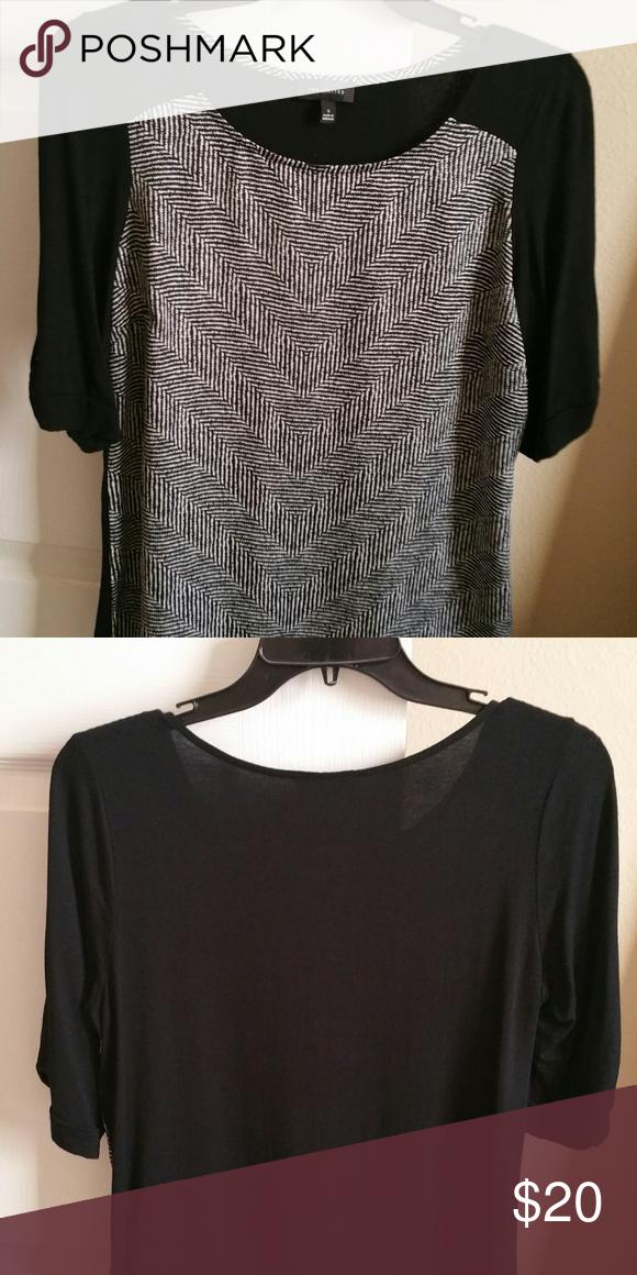 188 The Limited Black White T Shirt Blouse Black And White T Shirts Clothes Design Black White Dress