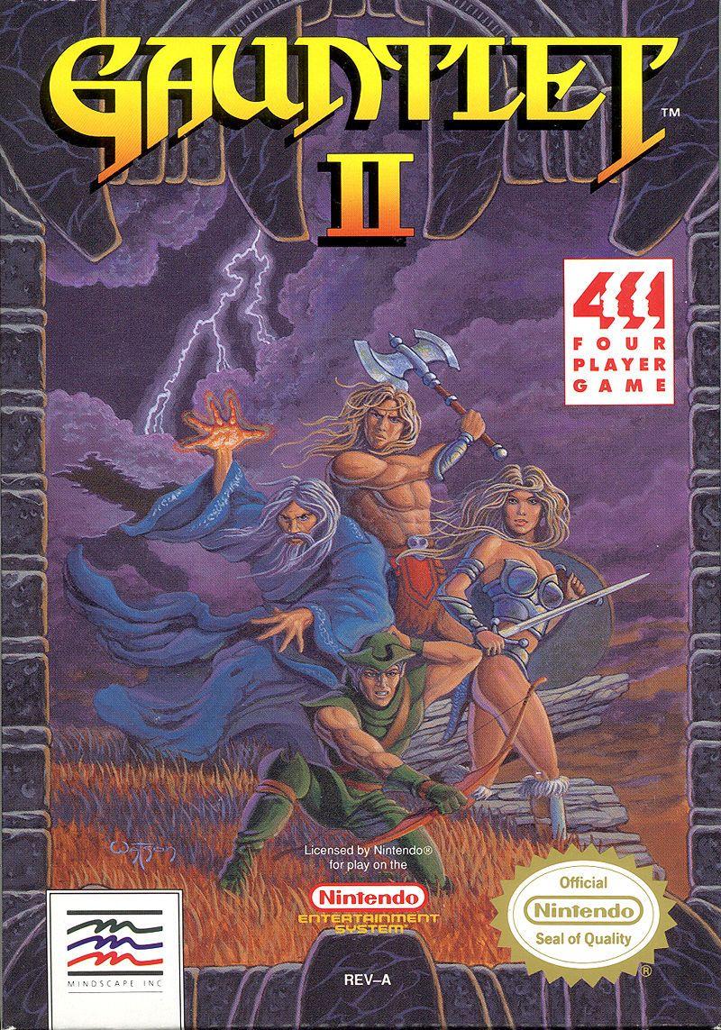 Gauntlet II NES game art | Retro_VideoGames | Nes games ...