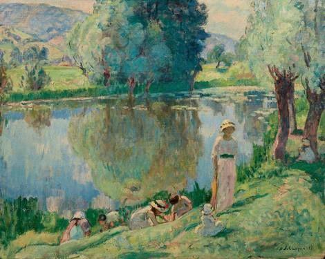 Henri Lebasque, Matinée de printemps aux Andelys, 1913