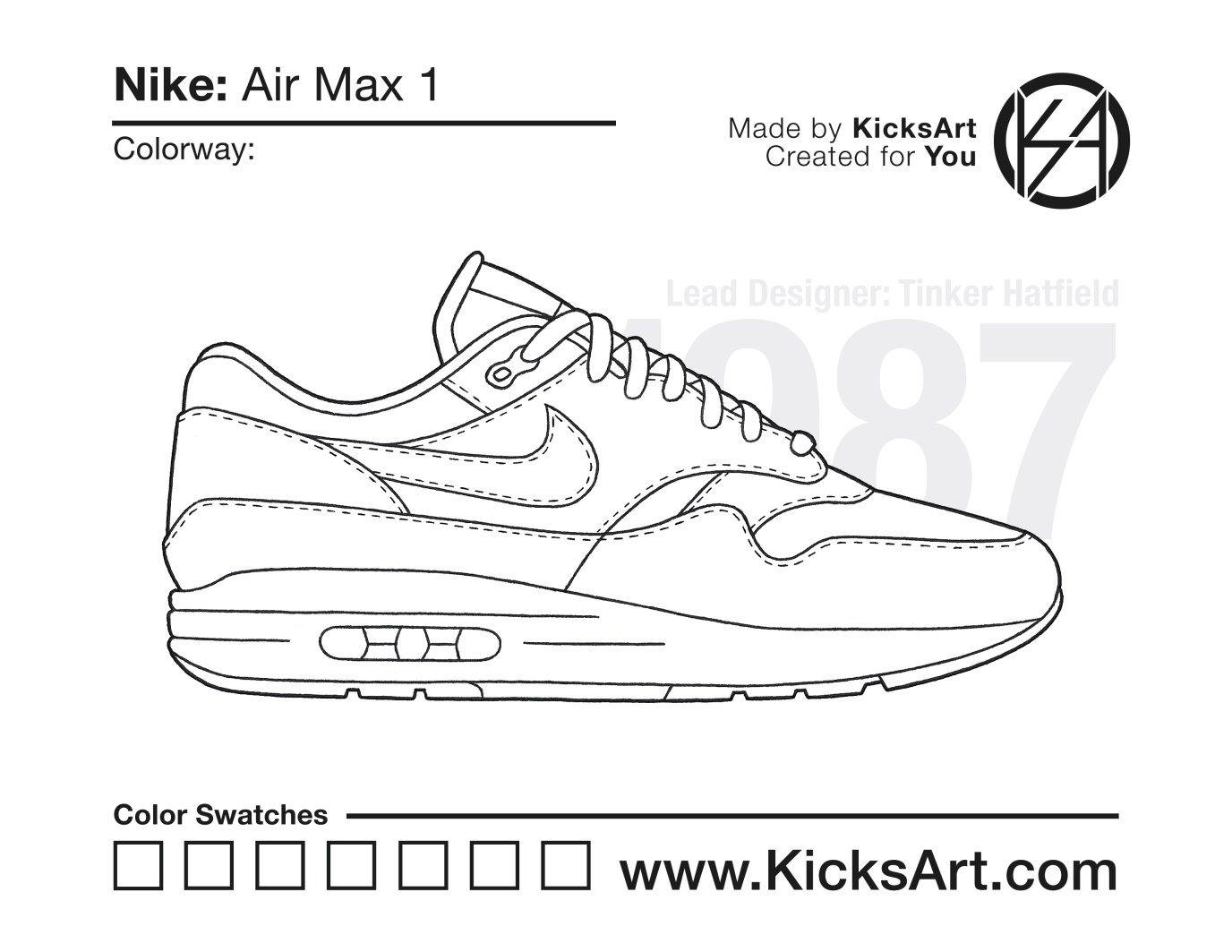 Nike Air Max 1 Kicksart Tatoeages