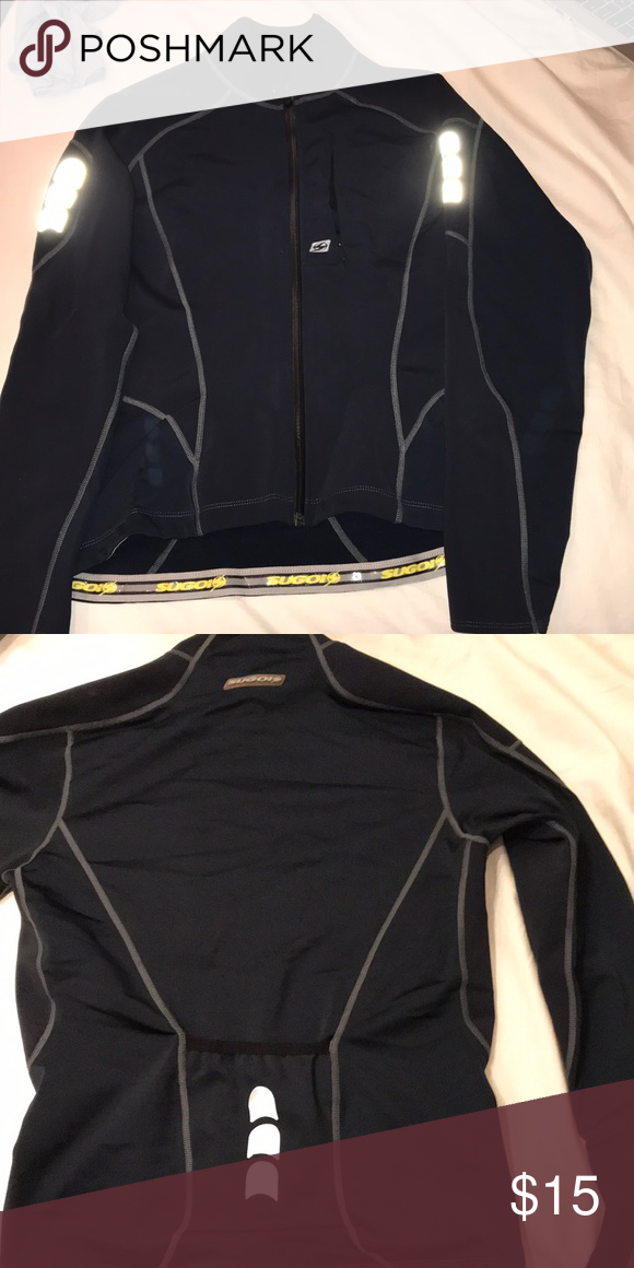 Sugoi zip up collared sweater Reflective Fleece inside Navy blue SUGOI  Sweaters 0fd310b99