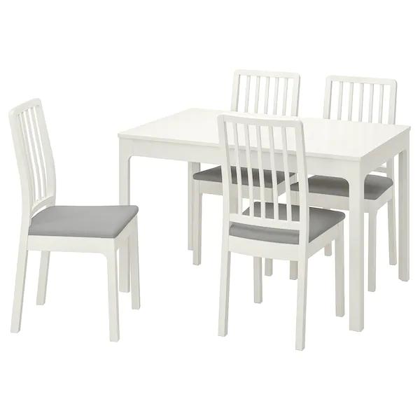 Ekedalen Ekedalen Table Et 4 Chaises Blanc Orrsta Gris Clair Ikea Ikea Ensemble Table Et Chaise Chaise Ikea