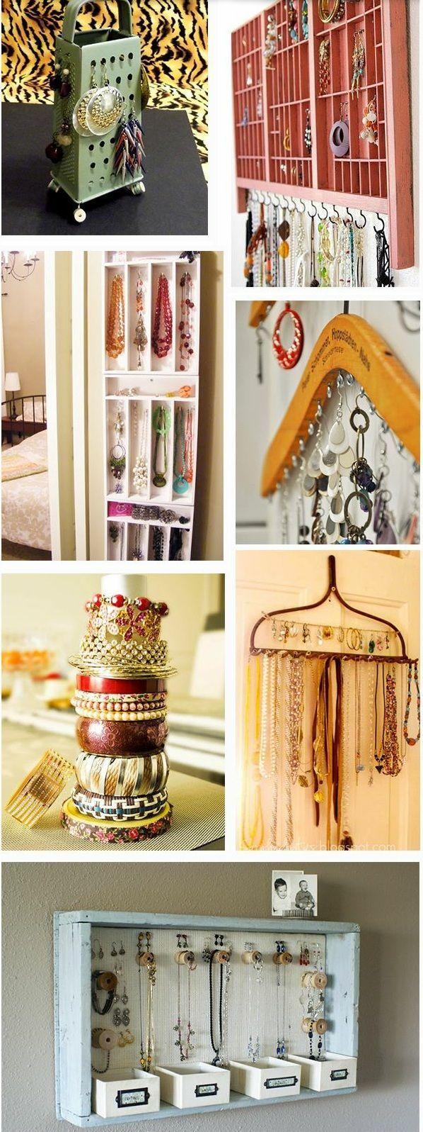 aufbewahrung f r schmuck diy ideen schmuckst nder selber bauen home pinterest. Black Bedroom Furniture Sets. Home Design Ideas