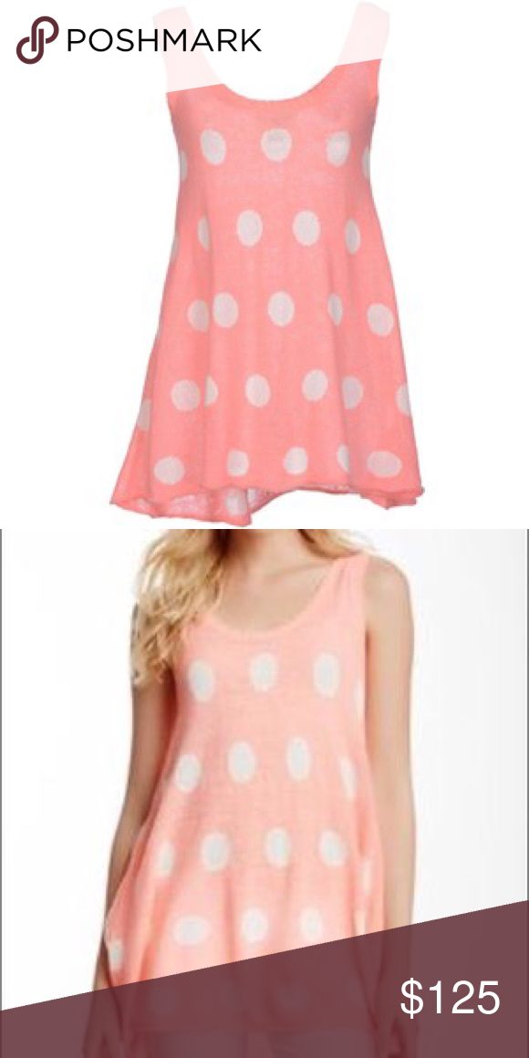 3a3ccab233c 💗💗HOST PICK💗💗White Label Wildfox Polka dot top Neon pink sweater tank  tunic dress by Wildfox Couture with white polka dots from their White Label  ...