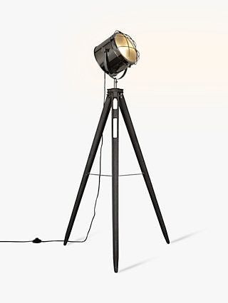 John Lewis Amp Partners Jules Wood Marine Head Floor Lamp