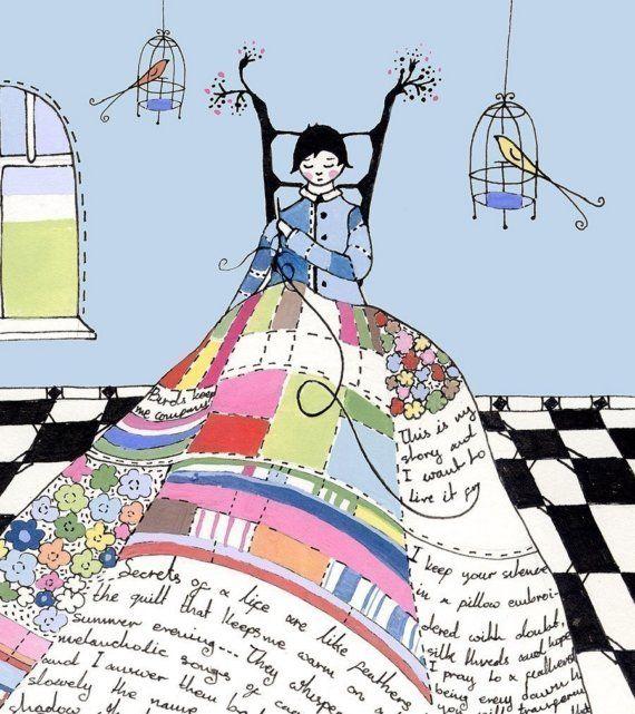 El sastre de innumerables cuentos  impresión del arte por LilyMoon
