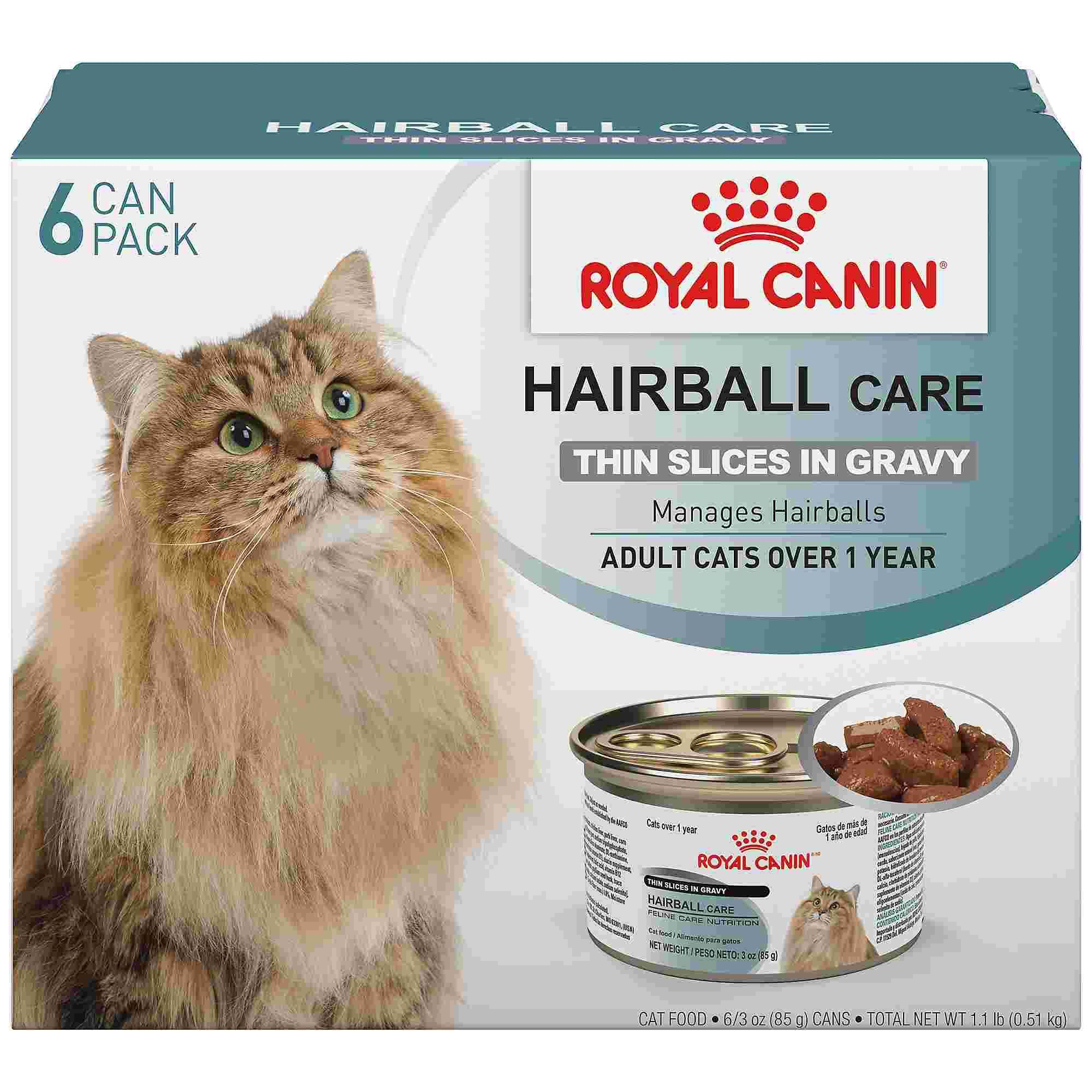 Royal Canin Hairball Care Thin Slices In Gravy Wet Cat Food Multipack 3 Oz Count Of 6 Petco In 2020 Cat Food Wet Cat Food Canned Cat Food