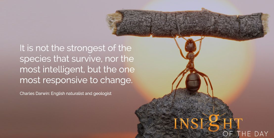 Motivational Quotes About Success: Motivational Quote: It Is Not The Strongest Of The Species