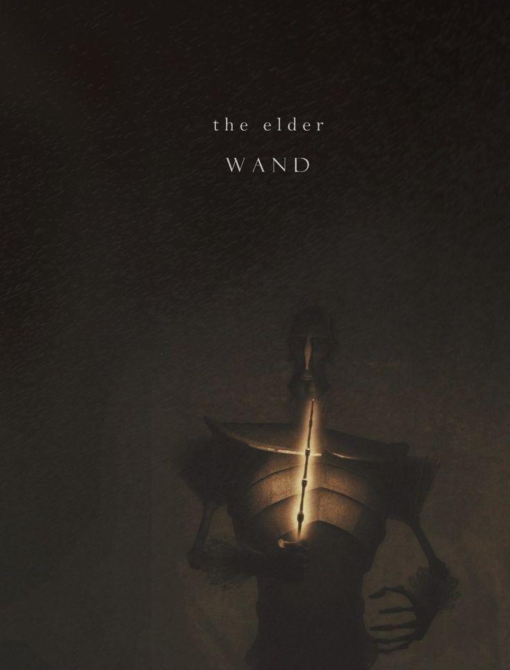 The Elder Wand...the light shading around the wand...