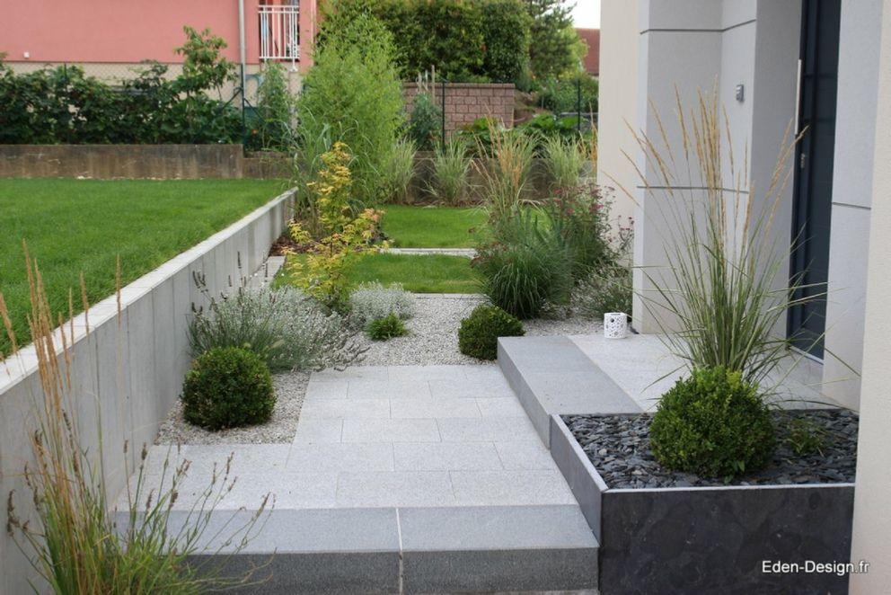 Paysagiste-jardin-contemporain,devant jardin, entrée maison ...