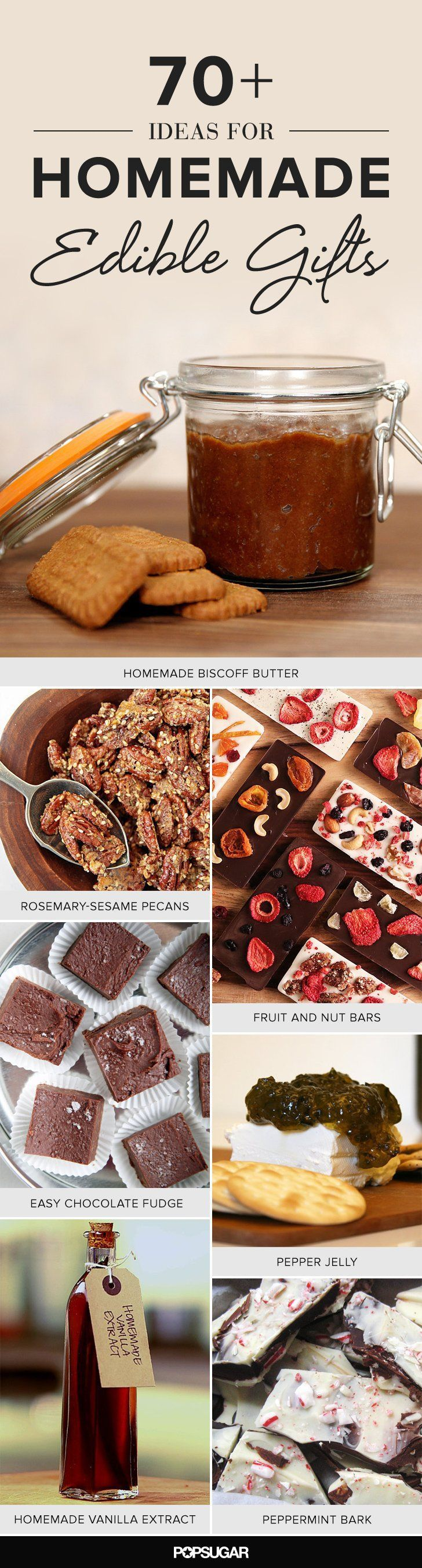 100 Ideas For Homemade Edible Gifts | Pinterest | Homemade, Holidays ...