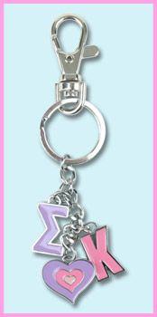 Sigma Kappa Charm Keychain | SomethingGreek.com