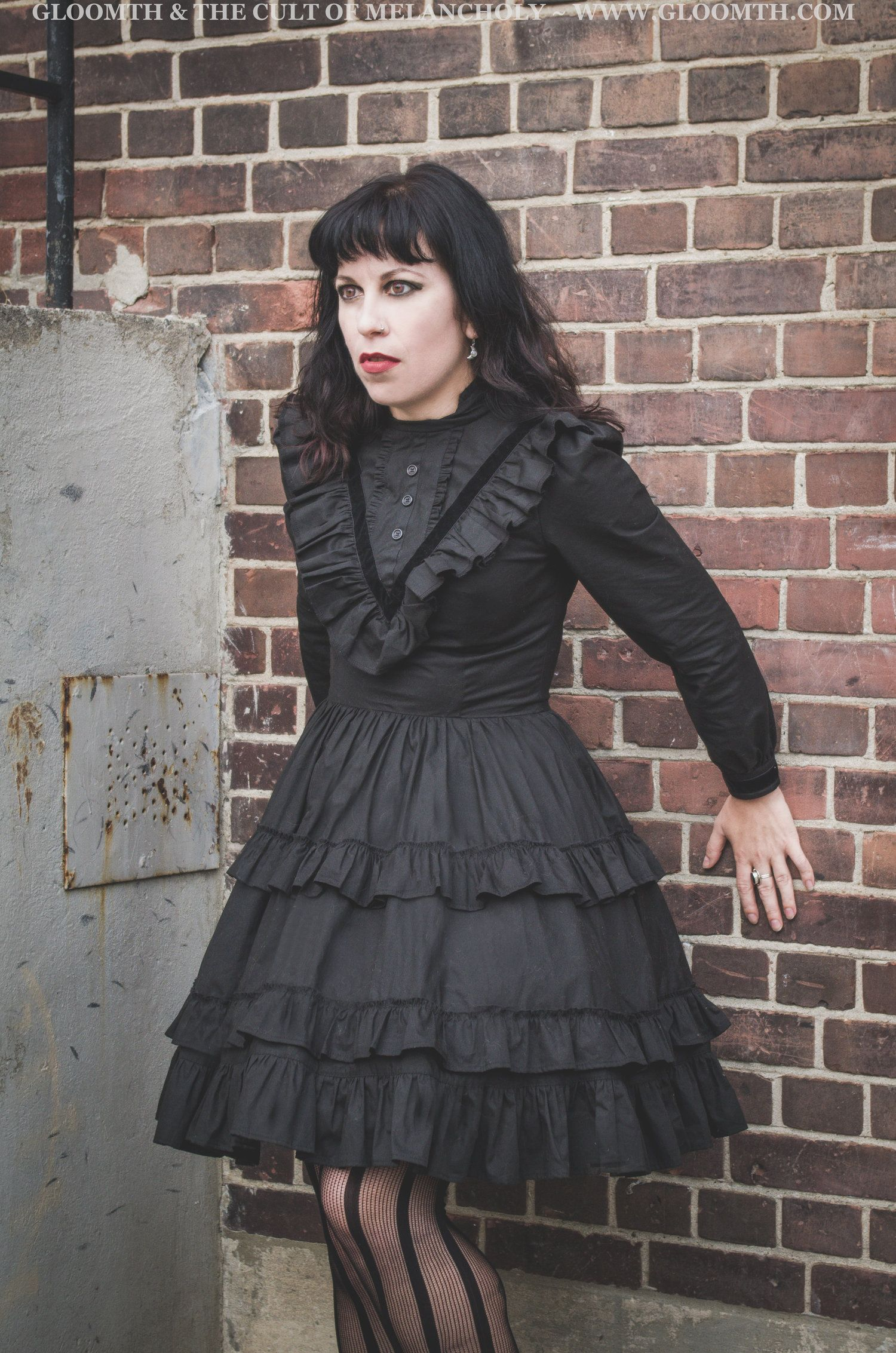 Victorian Mourning Dress Gothic fashion victorian