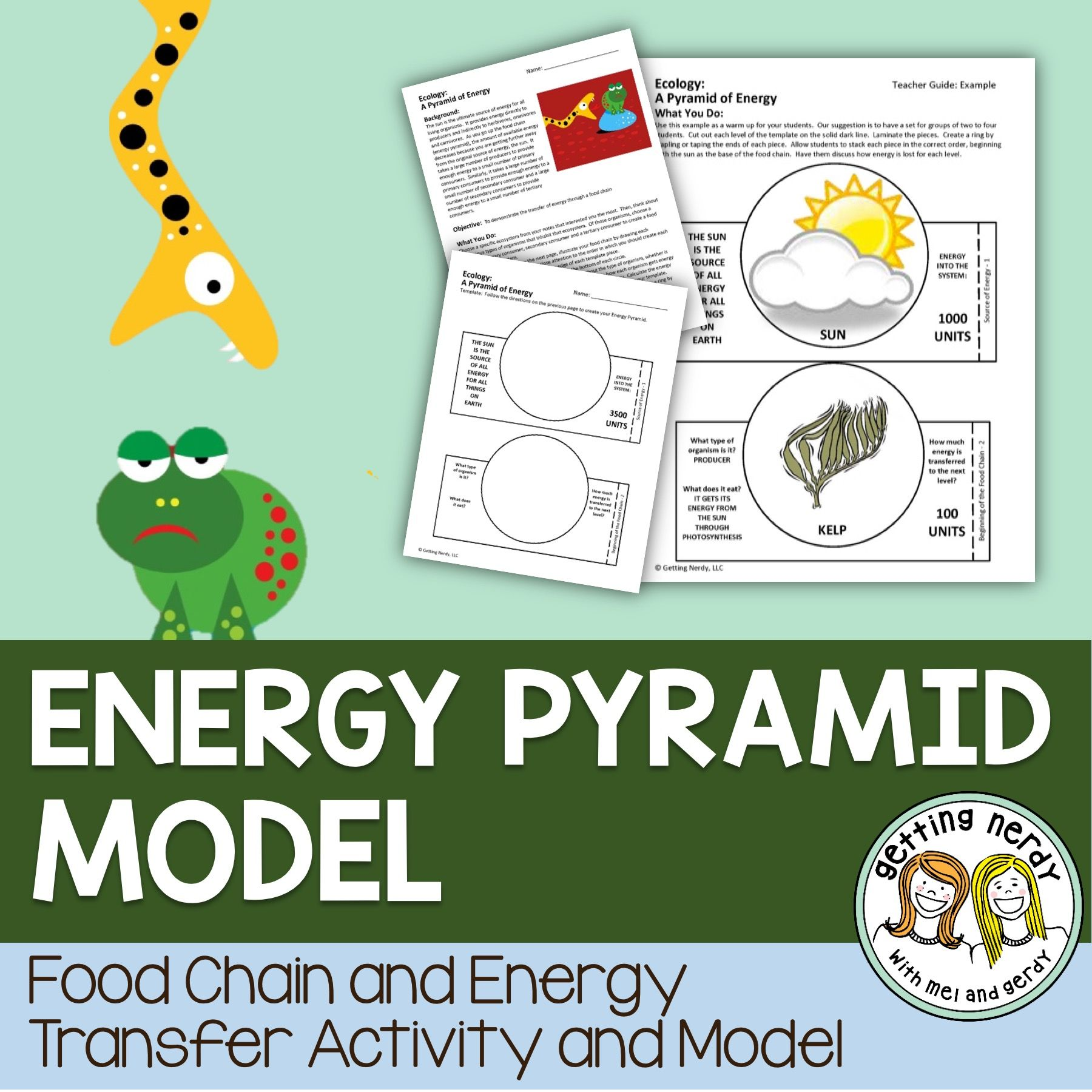 Energy Pyramid Model For Ecosystems Science For Secondary Grades