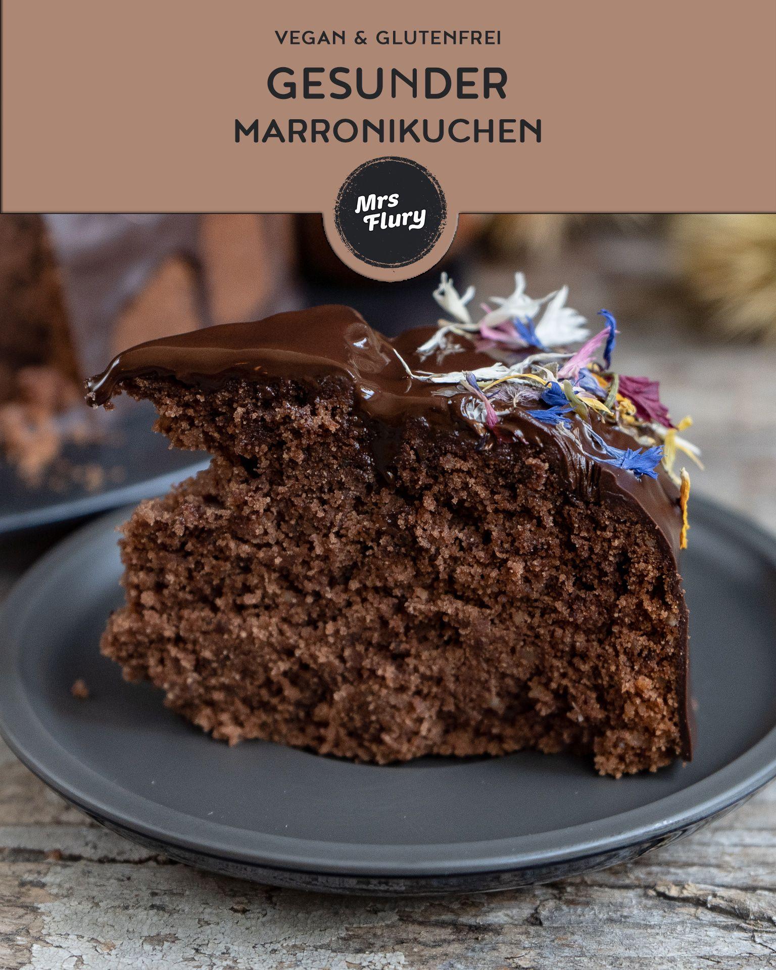 Gesunder Marroni Kuchen Vegan Glutenfrei Rezept Blogger Winter