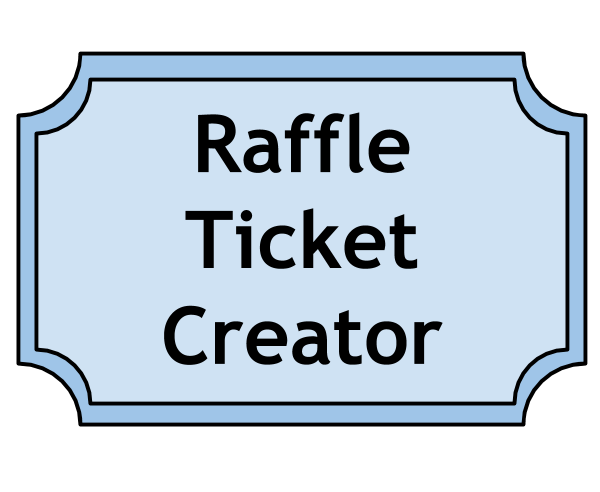 making your own raffle tickets