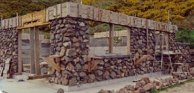 A Guide To Self Building A Stone House With Slipforms Stone Cabin Building Stone Stone House
