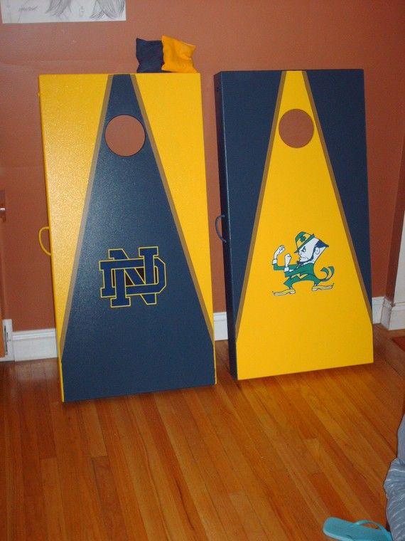 notre dame corn hole boards - Cornhole Design Ideas
