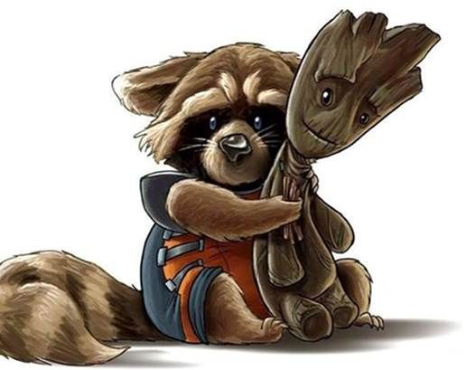 Baby Rocket With His Groot Doll Marvel Gardians Of The