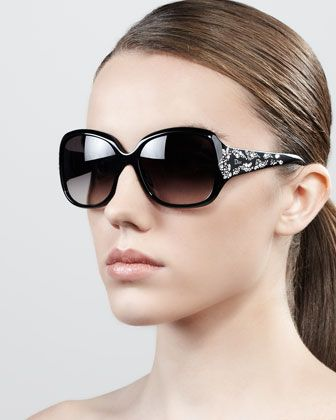 263cefb8d1 Minuit Crystal-Encrusted Oversized Wrap Sunglasses by Dior at Bergdorf  Goodman.