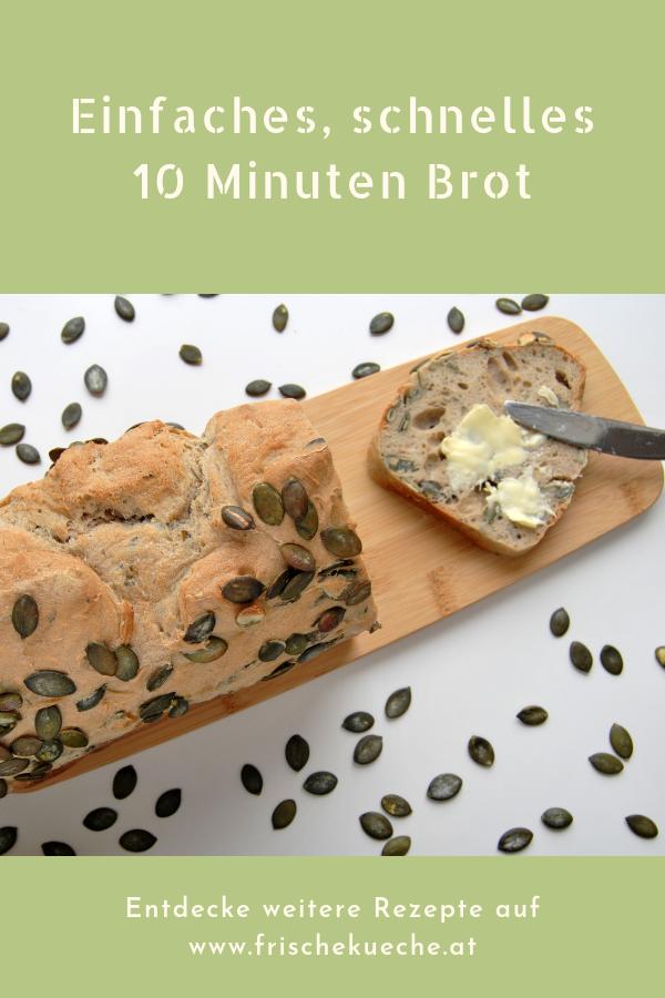 Einfaches, schnelles 10 Minuten Brot Rezept mit Trockenhefe