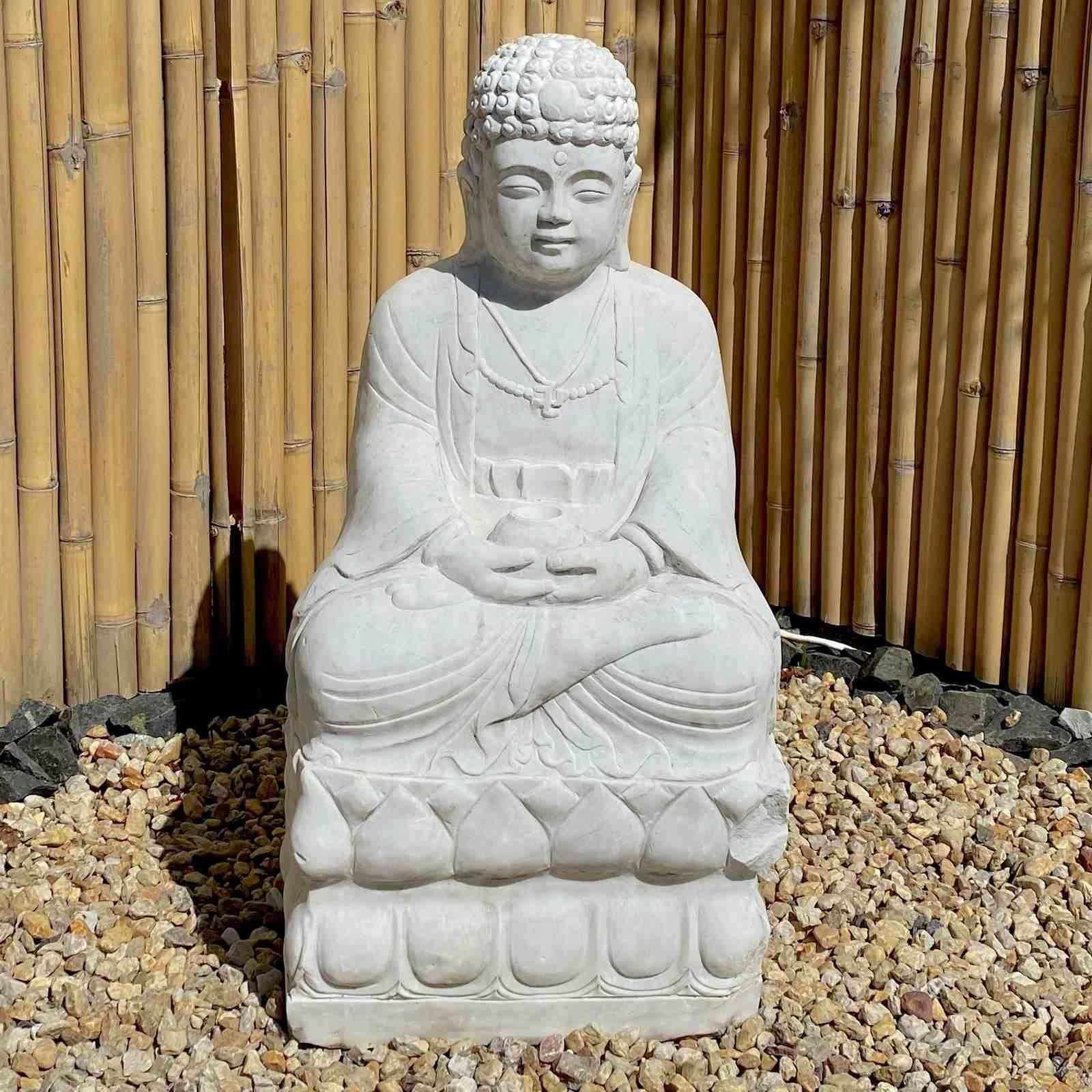 Pin Von Asienlifestyle Auf Asiatische Garten Dekoration Statuen Figuren Buddha Figur Amitabha Buddha Buddha Statuen