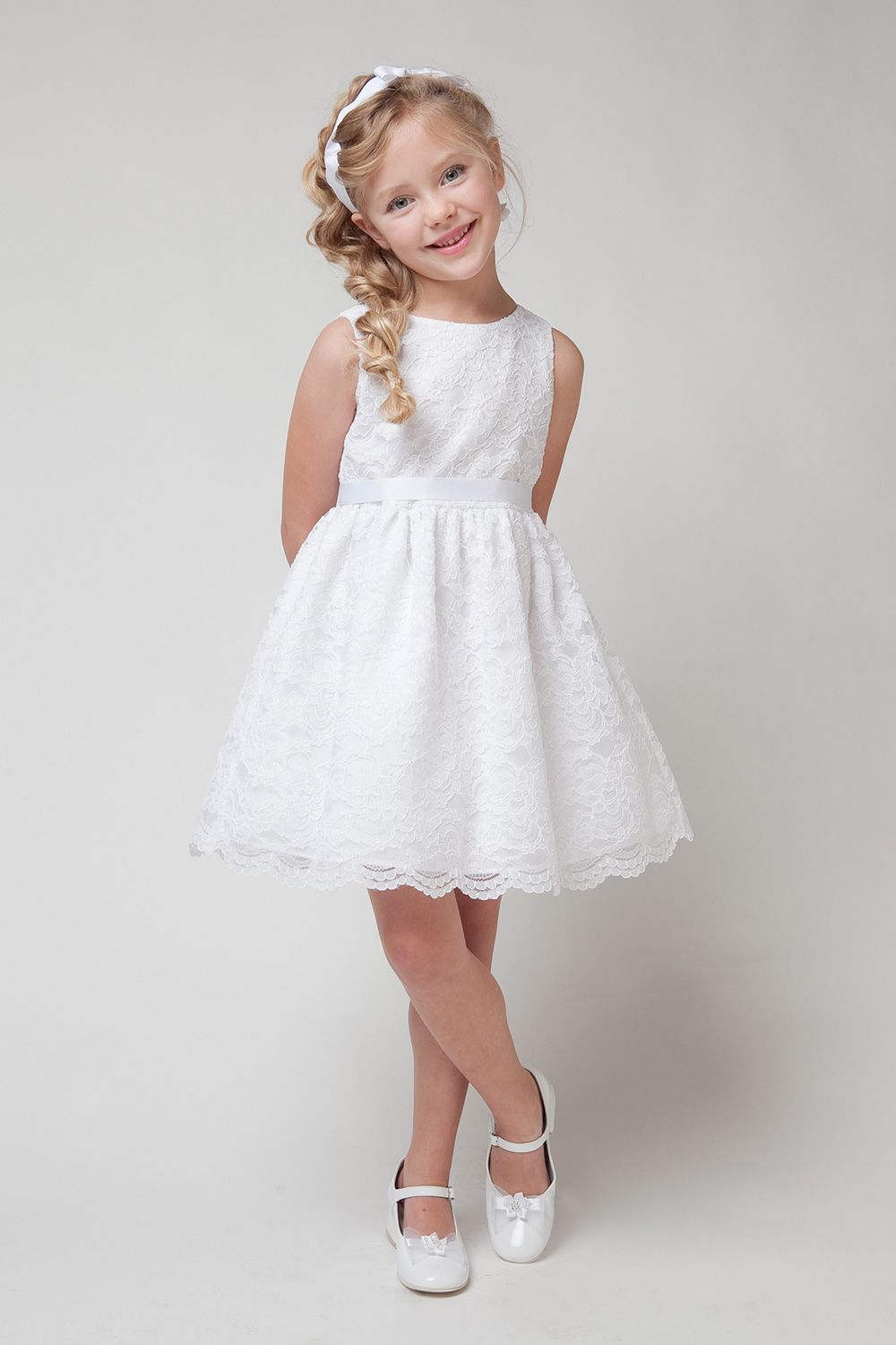 White Dresses Flower Girl