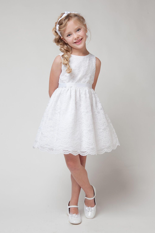 Vestido Encaje Blanco Vestidos Blancos Para Niñas