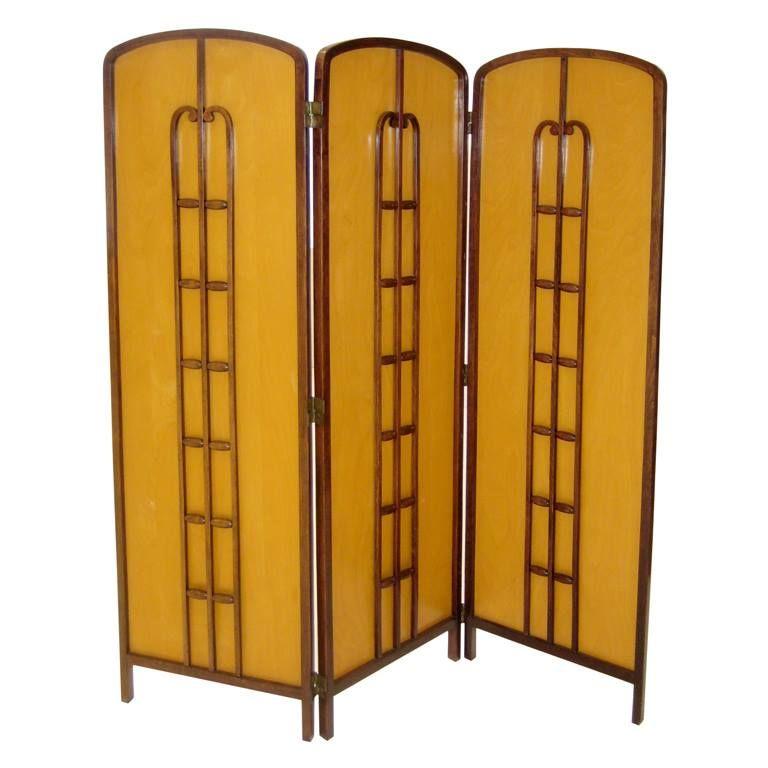 paravent art nouveau 3 panneaux koloman moser 1905 art nouveau objets d coratifs. Black Bedroom Furniture Sets. Home Design Ideas