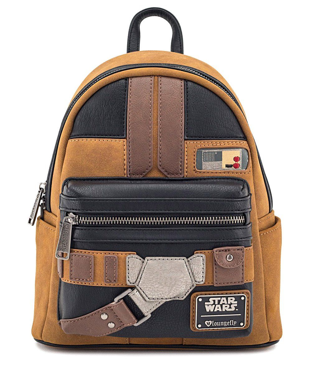 69c91d88755 Loungefly x Solo  A Star Wars Story Han Solo Cosplay Mini Faux Suede  Backpack