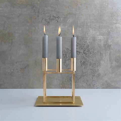 Base For Kubus 4 Brass Design Candle Holders Modern Scandinavian Design Scandinavian Candle Holders